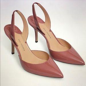 Brand New Paul Andrew Slingback Patent Stilettos